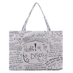 Panic! At The Disco Lyrics Zipper Medium Tote Bag