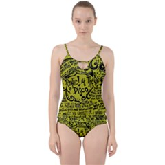 Panic! At The Disco Lyric Quotes Cut Out Top Tankini Set