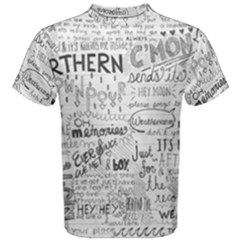 Panic At The Disco Lyrics Men s Cotton Tee