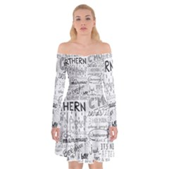 Panic At The Disco Lyrics Off Shoulder Skater Dress