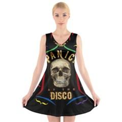 Panic At The Disco Poster V Neck Sleeveless Skater Dress