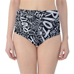 Panic At The Disco Lyric Quotes Retina Ready High Waist Bikini Bottoms