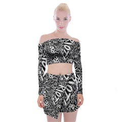 Panic At The Disco Lyric Quotes Retina Ready Off Shoulder Top With Skirt Set