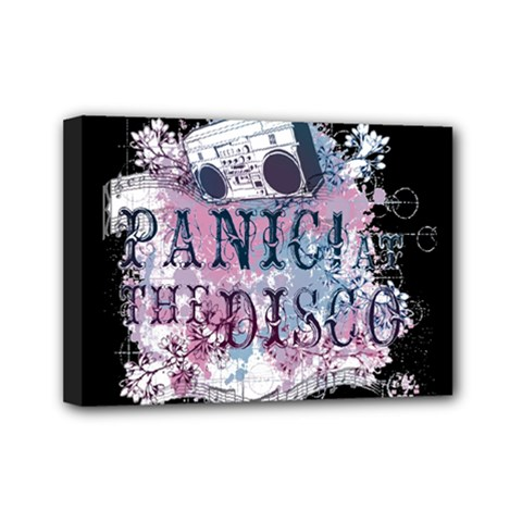 Panic At The Disco Art Mini Canvas 7  X 5