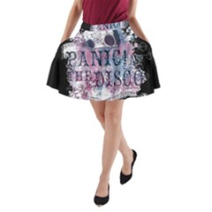 Panic At The Disco Art A Line Pocket Skirt