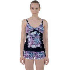 Panic At The Disco Art Tie Front Two Piece Tankini
