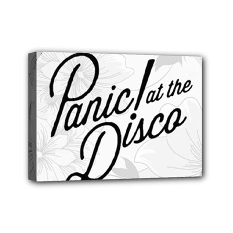 Panic At The Disco Flowers Mini Canvas 7  X 5