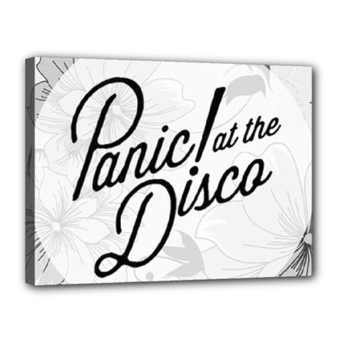 Panic At The Disco Flowers Canvas 16  X 12