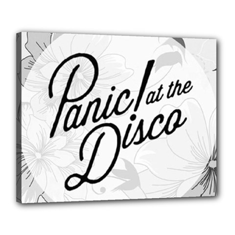 Panic At The Disco Flowers Canvas 20  X 16