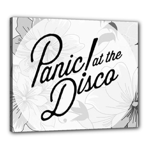 Panic At The Disco Flowers Canvas 24  X 20