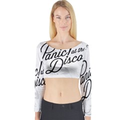 Panic At The Disco Flowers Long Sleeve Crop Top