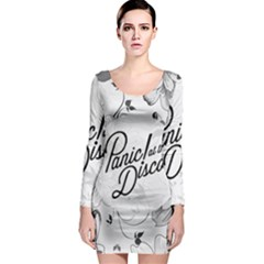 Panic At The Disco Flowers Long Sleeve Bodycon Dress