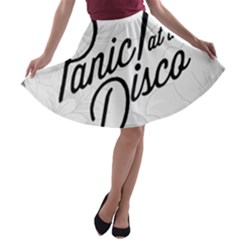 Panic At The Disco Flowers A Line Skater Skirt