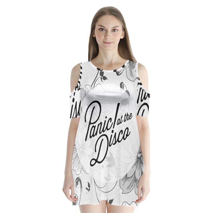 Panic At The Disco Flowers Shoulder Cutout Velvet  One Piece