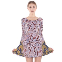 Panic! At The Disco Long Sleeve Velvet Skater Dress