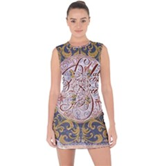 Panic! At The Disco Lace Up Front Bodycon Dress