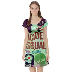 Panic! At The Disco Suicide Squad The Album Short Sleeve Skater Dress