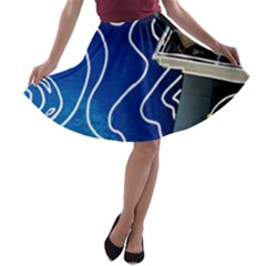 Panic! At The Disco Released Death Of A Bachelor A Line Skater Skirt