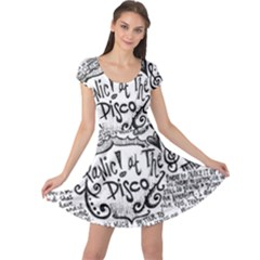 Panic! At The Disco Lyric Quotes Cap Sleeve Dress
