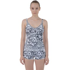 Panic! At The Disco Lyric Quotes Tie Front Two Piece Tankini
