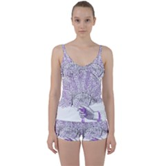 Panic At The Disco Tie Front Two Piece Tankini