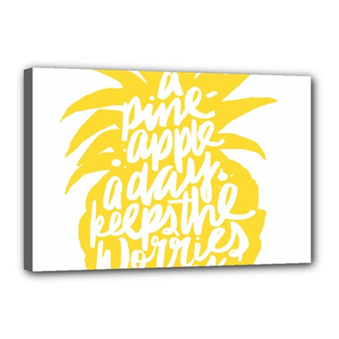 Cute Pineapple Yellow Fruite Canvas 18  X 12