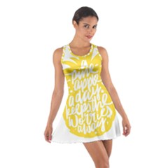 Cute Pineapple Yellow Fruite Cotton Racerback Dress