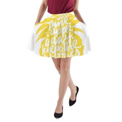 Cute Pineapple Yellow Fruite A Line Pocket Skirt