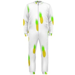 Cute Pineapple Fruite Yellow Green Onepiece Jumpsuit (men)