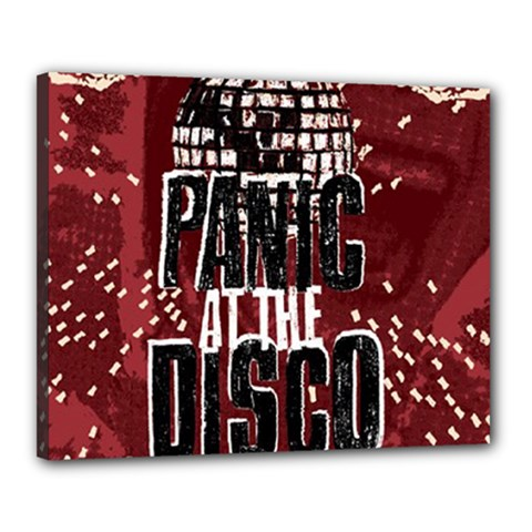 Panic At The Disco Poster Canvas 20  X 16