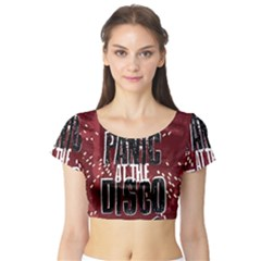 Panic At The Disco Poster Short Sleeve Crop Top (tight Fit)