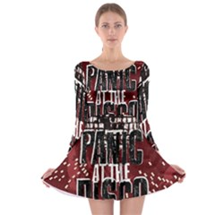 Panic At The Disco Poster Long Sleeve Skater Dress