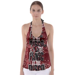 Panic At The Disco Poster Babydoll Tankini Top