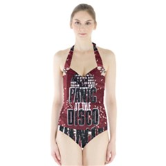 Panic At The Disco Poster Halter Swimsuit
