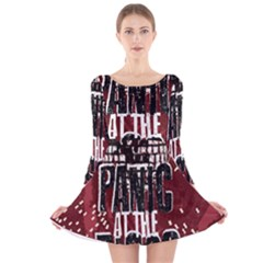 Panic At The Disco Poster Long Sleeve Velvet Skater Dress