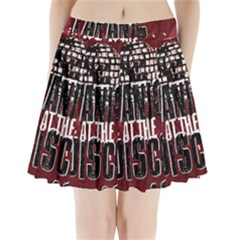 Panic At The Disco Poster Pleated Mini Skirt