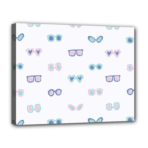 Cute Sexy Funny Sunglasses Kids Pink Blue Canvas 14  X 11