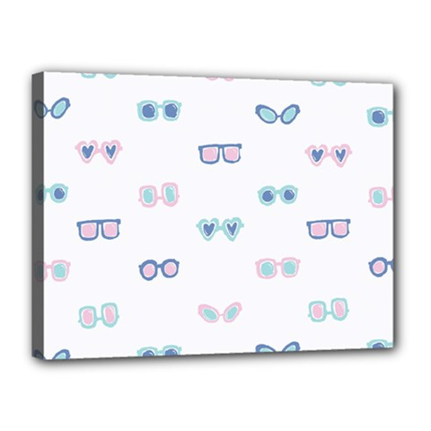 Cute Sexy Funny Sunglasses Kids Pink Blue Canvas 16  X 12