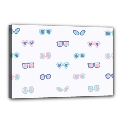 Cute Sexy Funny Sunglasses Kids Pink Blue Canvas 18  X 12