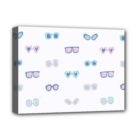 Cute Sexy Funny Sunglasses Kids Pink Blue Deluxe Canvas 16  X 12