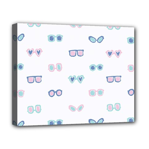 Cute Sexy Funny Sunglasses Kids Pink Blue Deluxe Canvas 20  X 16