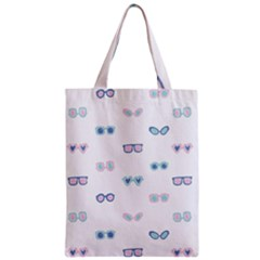 Cute Sexy Funny Sunglasses Kids Pink Blue Zipper Classic Tote Bag