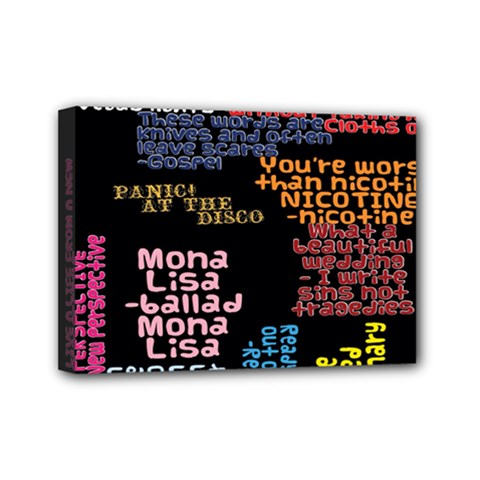Panic At The Disco Northern Downpour Lyrics Metrolyrics Mini Canvas 7  X 5