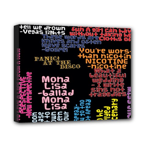 Panic At The Disco Northern Downpour Lyrics Metrolyrics Canvas 10  X 8