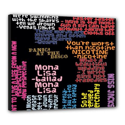 Panic At The Disco Northern Downpour Lyrics Metrolyrics Canvas 24  X 20