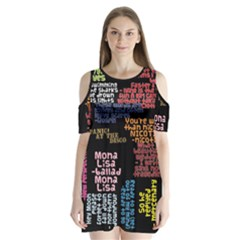 Panic At The Disco Northern Downpour Lyrics Metrolyrics Shoulder Cutout Velvet  One Piece