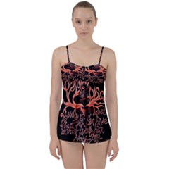 Panic At The Disco   Lying Is The Most Fun A Girl Have Without Taking Her Clothes Babydoll Tankini Set