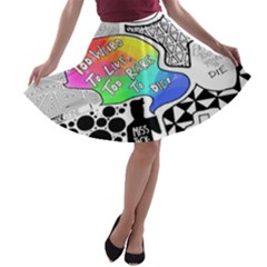 Panic ! At The Disco A Line Skater Skirt