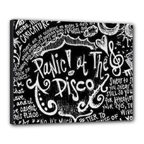 Panic ! At The Disco Lyric Quotes Canvas 20  X 16