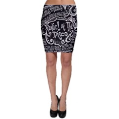 Panic ! At The Disco Lyric Quotes Bodycon Skirt